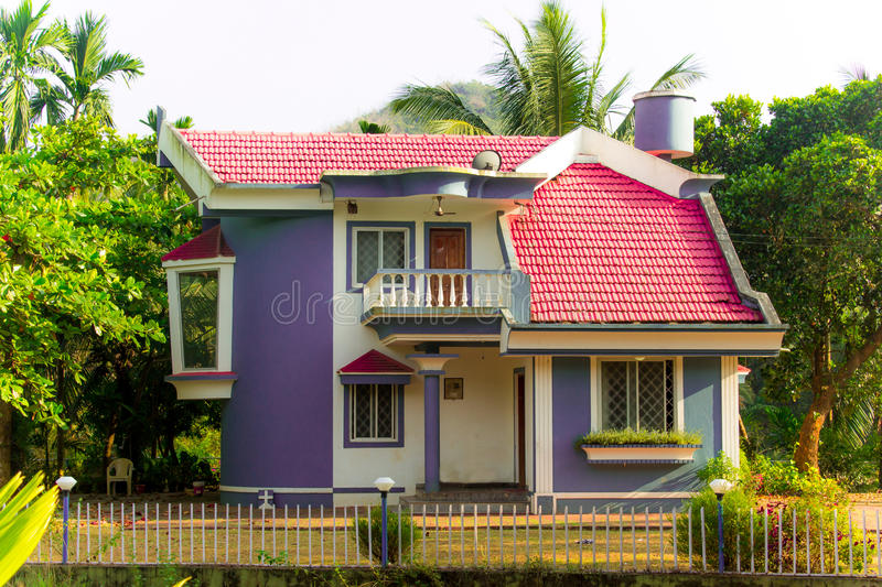 Beautiful Indian Home Designs Stock Photo - Image of even ...