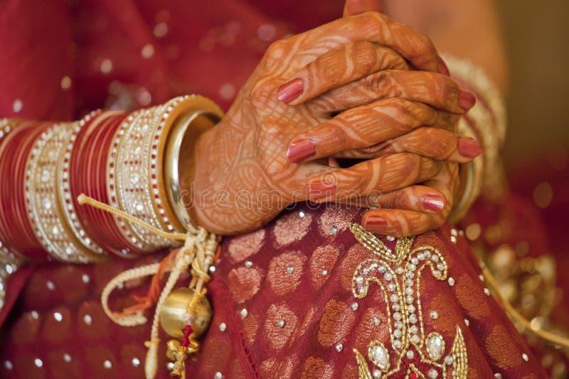 Beautiful Indian, Punjabi Bride. At her wedding royalty free stock image