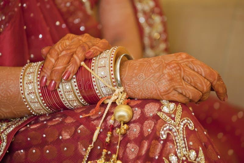Beautiful Indian, Punjabi Bride. At her wedding stock photography
