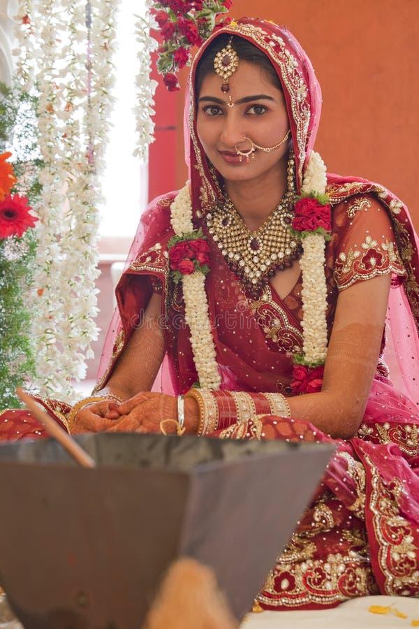 Beautiful Indian, Punjabi Bride. At her wedding stock images