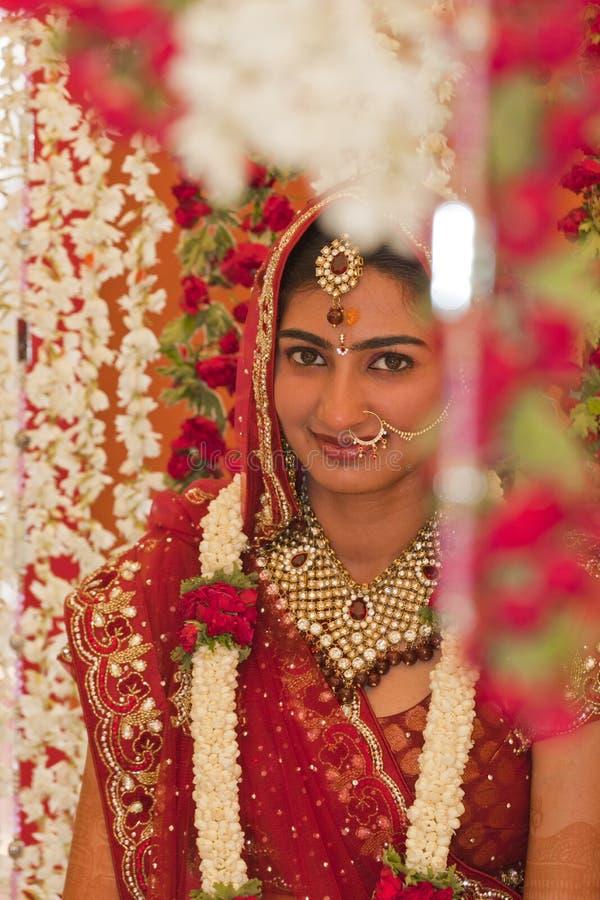 Beautiful Indian, Punjabi Bride. At her wedding royalty free stock photo