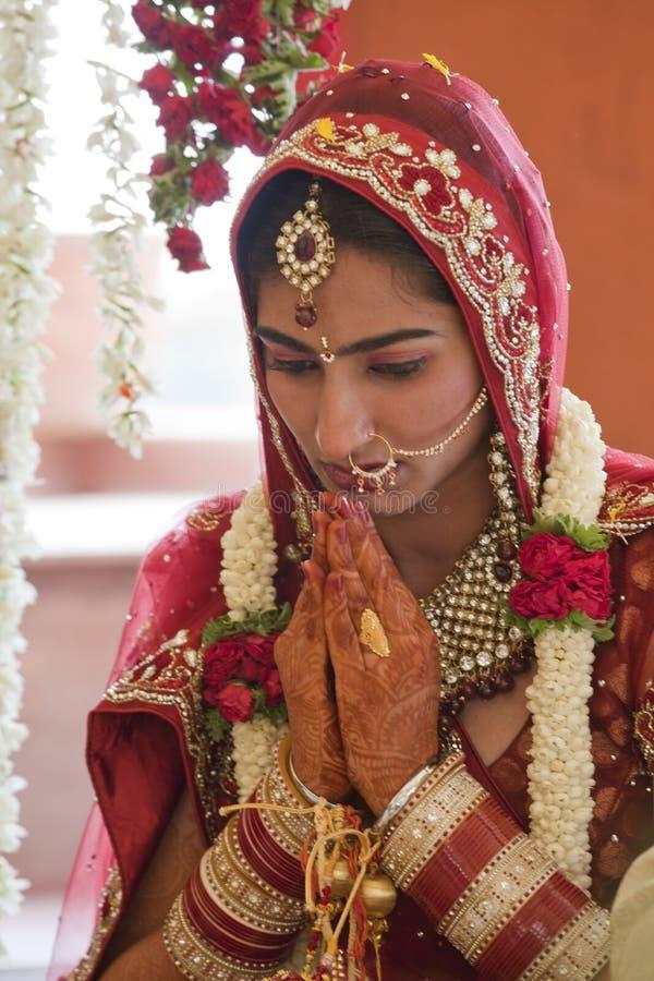 Beautiful Indian, Punjabi Bride. At her wedding stock photos