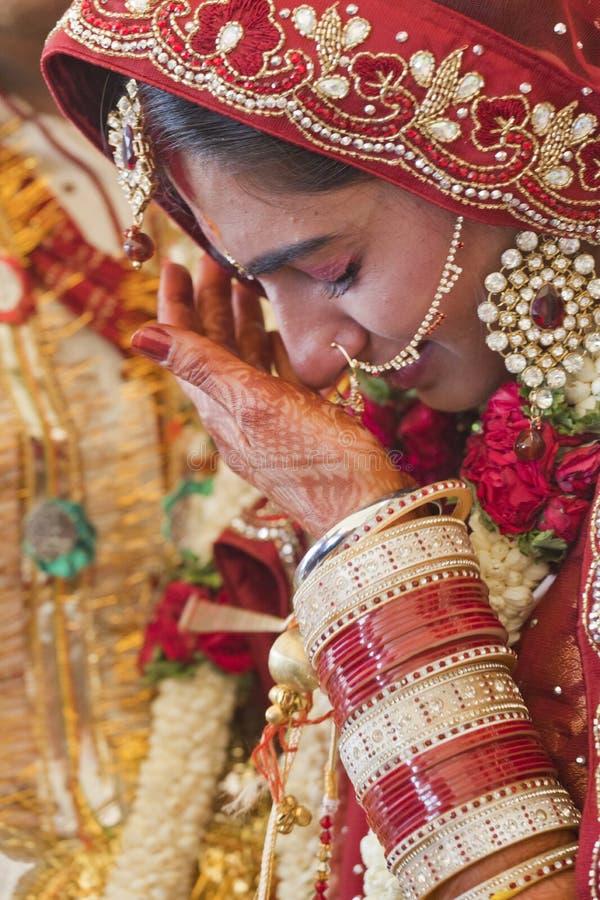 Beautiful Indian, Punjabi Bride. At her wedding royalty free stock photos