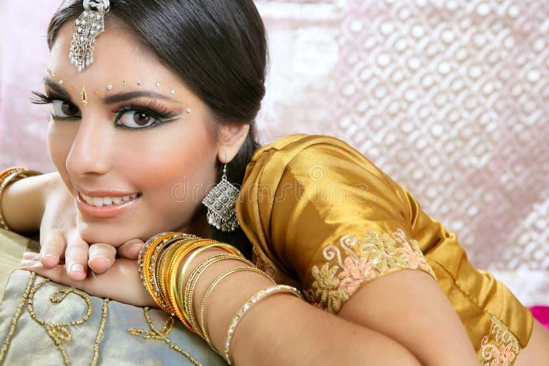 Beautiful indian traditional fashion style stock photo