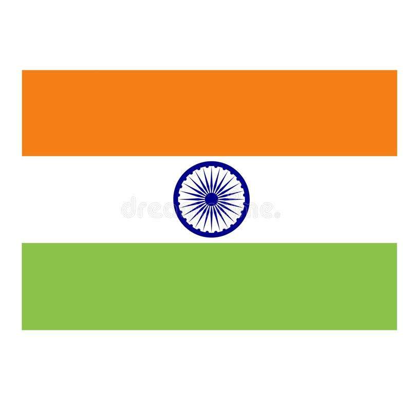 Beautiful indian tricolor flag vector illustration