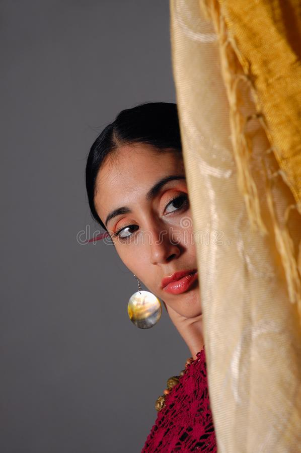 Beautiful indian woman stock images