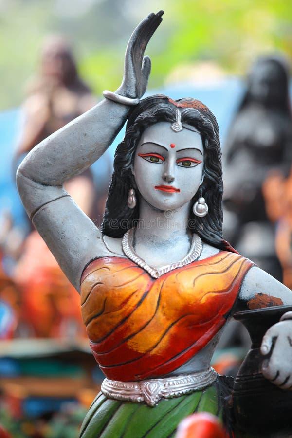 Beautiful Indian woman statue stock photo