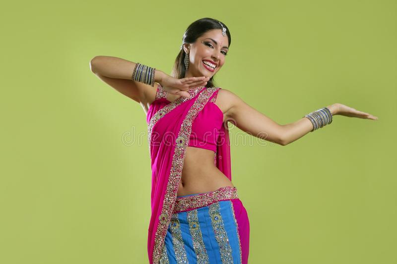 Download Beautiful Indian Young Brunette Woman Dancing Stock Photo - Image: 11274518
