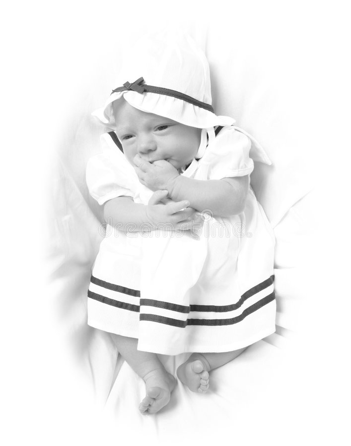 Download Beautiful Infant On A White Stock Image - Image: 2324749