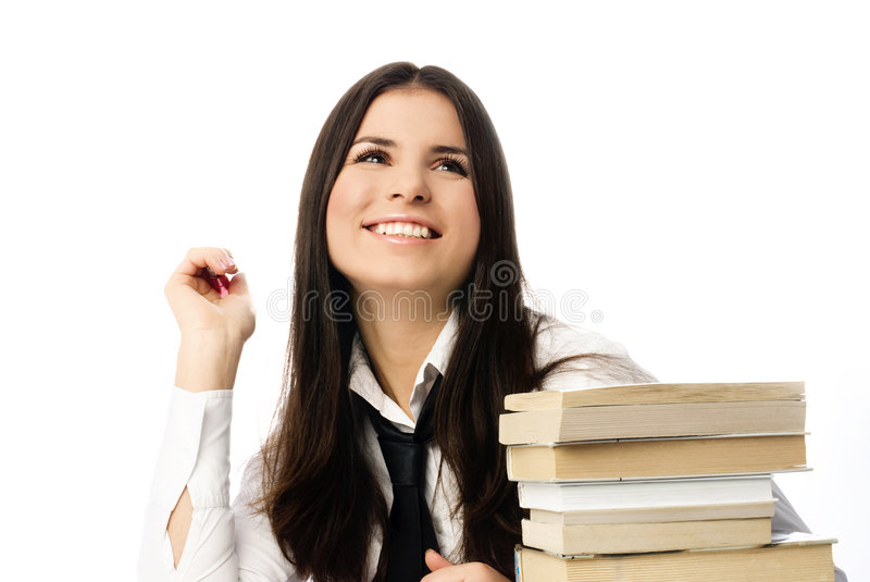 Download Beautiful inspired student stock image. Image of exam - 7492013