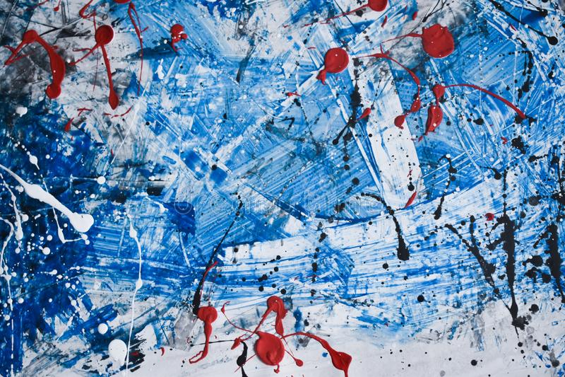 Beautiful and interesting abstract splatter painting royalty free stock image