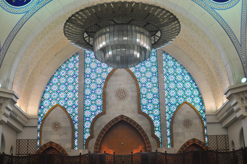 Download The Beautiful Interior Design Of Wilayah Mosque Stock Image - Image: 20197447