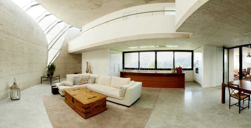 Beautiful interior modern home royalty free stock image
