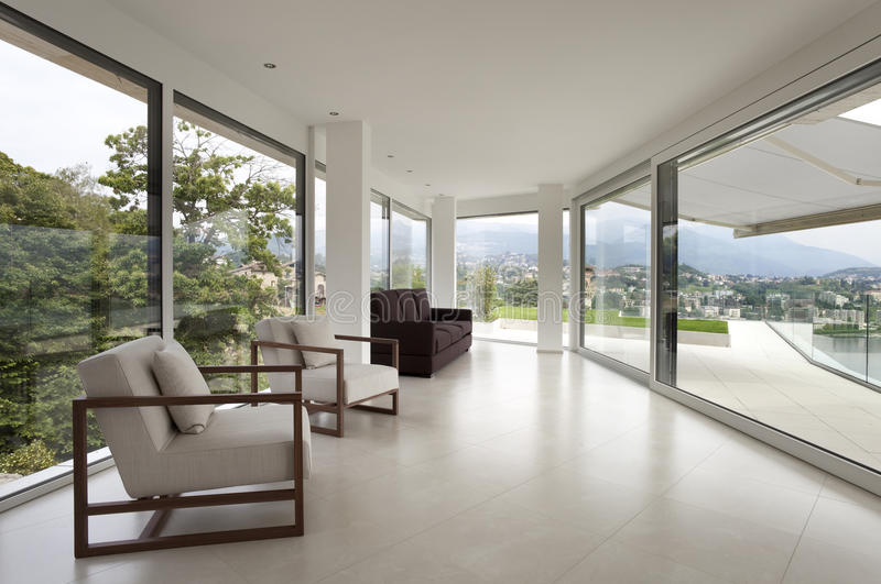 Beautiful interior of a modern house stock photography