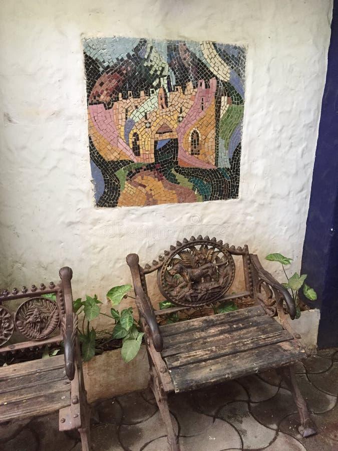 Interiors of Candies Restaurant, Mumbai, India royalty free stock photo