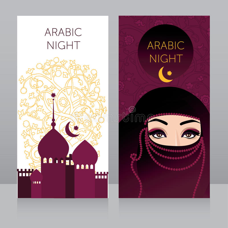 Beautiful invitation template for arabian night party stock vector beautiful invitation template for arabian night partytemplate for muslim holiday card touristic banner vector illustration stopboris Images