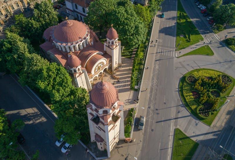 Beautiful Iosefin Orthodox Church in Timisoara, Romania stock photography