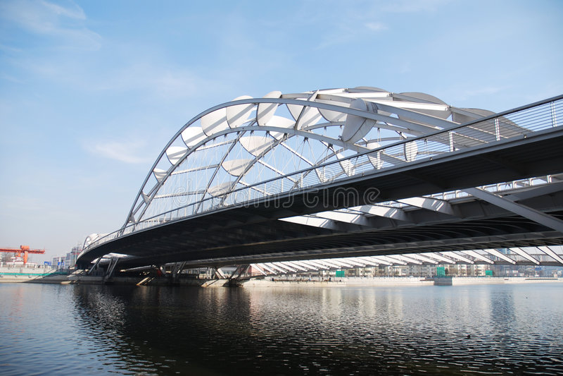 Beautiful Iron Bridge stock photo
