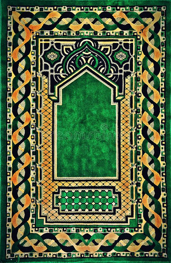 Muslim carpet textile design stock photos