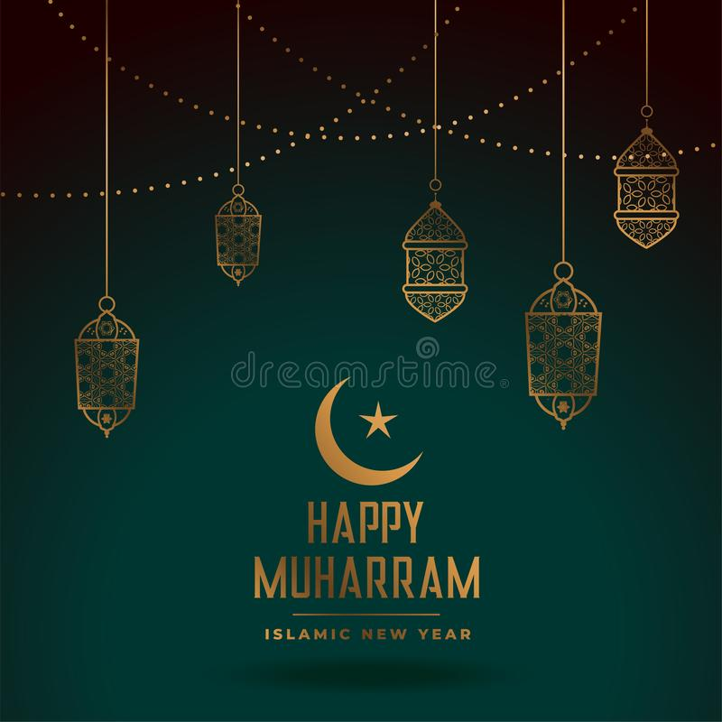 Happy Islamic New Year Traditional Festival Banner Design