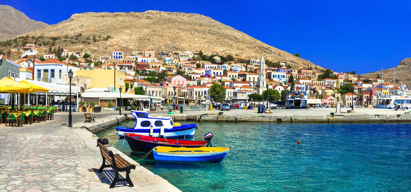 beautiful island Chalki (Dodecanese) royalty free stock photos