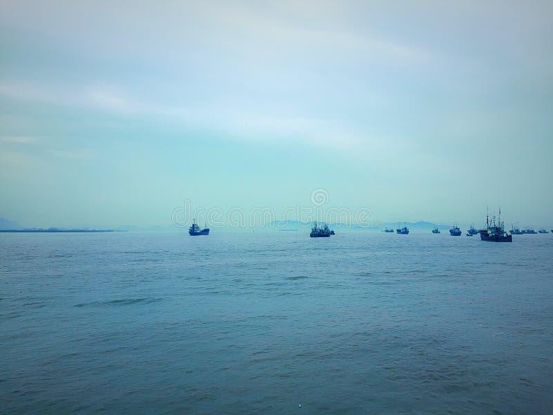 Beautiful island in china stock photography