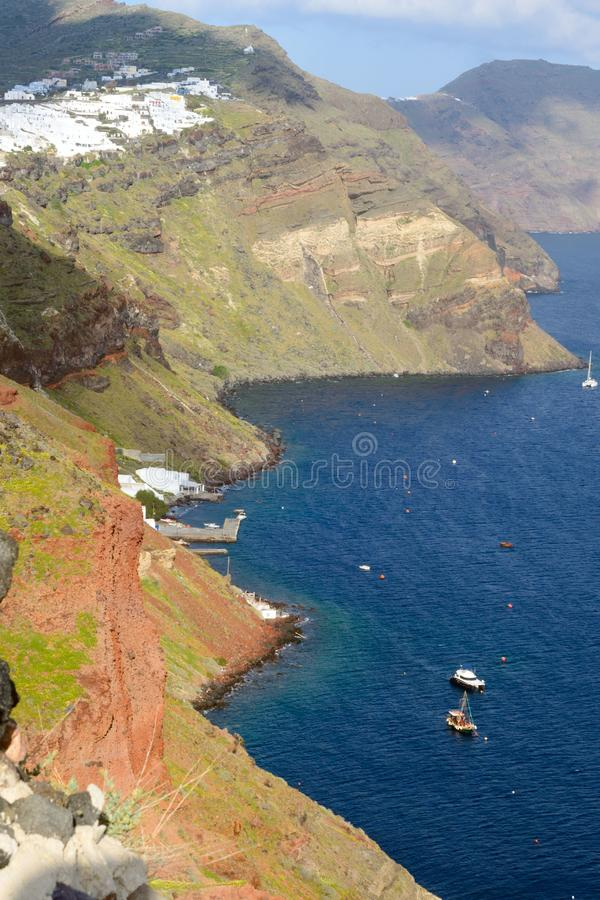 Beautiful island of Santorini, Greece. stock photos