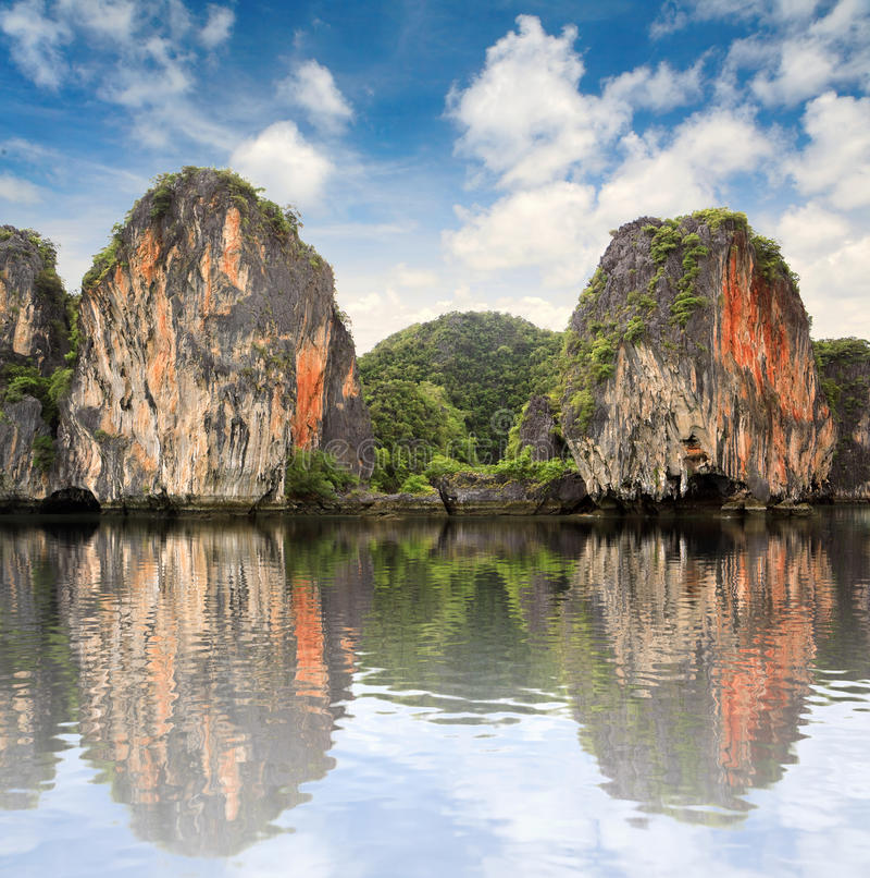 Beautiful islands at ocean royalty free stock photos