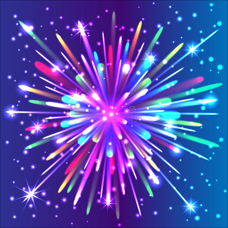 Beautiful isolated firework. vector illustration