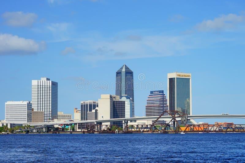 Beautiful Jacksonville downtown. Skyscraper taken in Jacksonville, florida stock photos