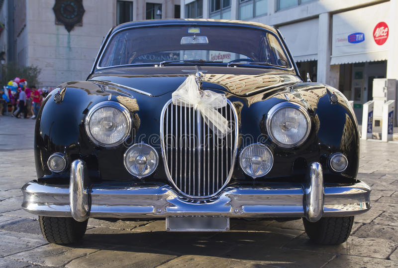 Beautiful jaguar mk2,vintage car royalty free stock photo