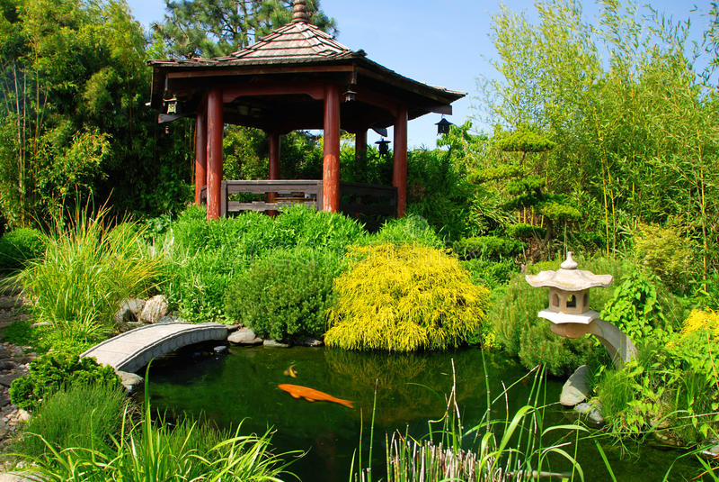 Beautiful Japanese Garden stock image