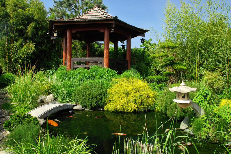 Beautiful Japanese Garden royalty free stock photos
