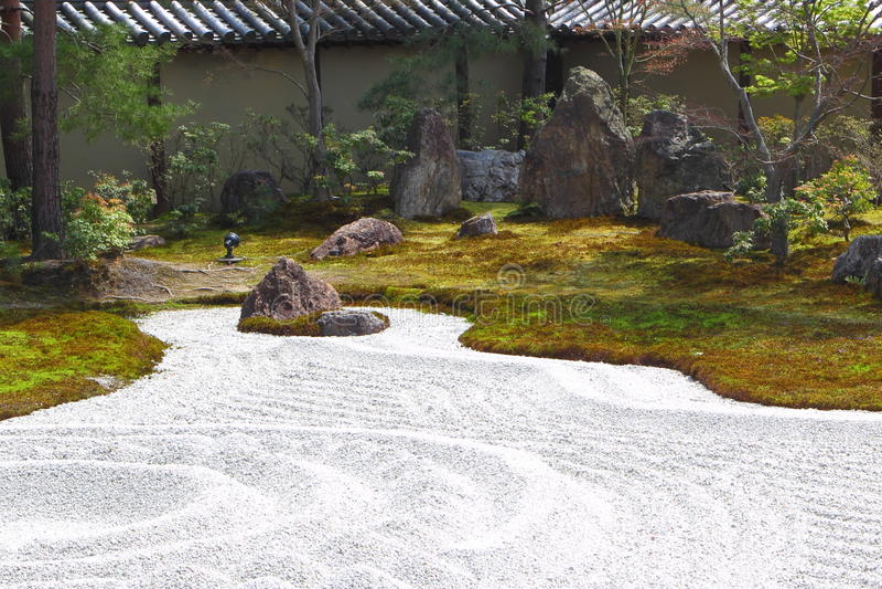 Beautiful japanese garden royalty free stock photography