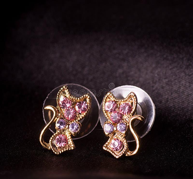 Beautiful Jewelry On Background Stock Image - Image of black ...