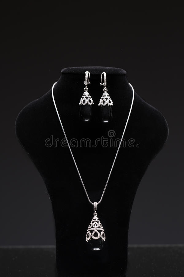Beautiful Jewelry On A Mannequin. Stock Illustration - Image: 69246635