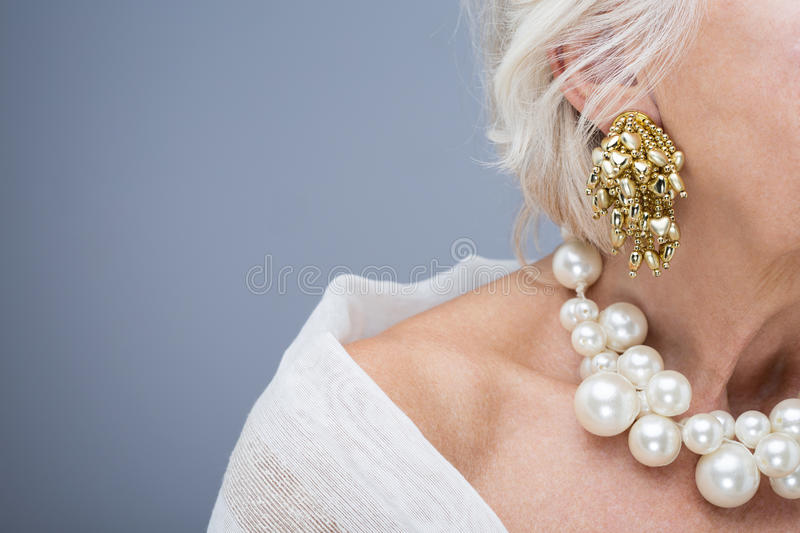 Beautiful jewelry is perfect decoration for woman royalty free stock photo