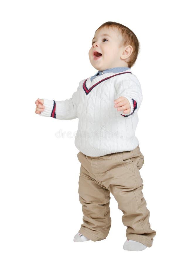 Beautiful joyful kid stock image