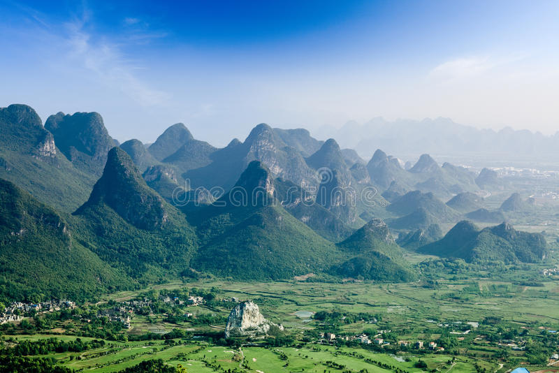Beautiful karst mountain landscape in guilin stock images