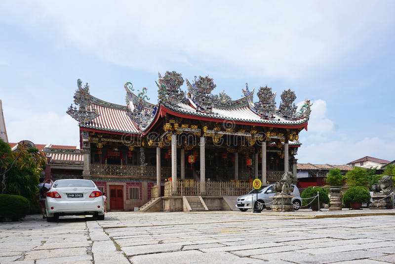 Beautiful Khoo Kongsi, Historic Chinese clan temple & museum wit. George Town, Malaysia - 5 June ,2017 : Beautiful Khoo Kongsi, Historic Chinese clan temple & stock photography