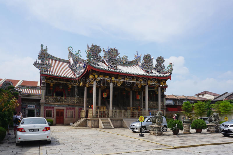 Beautiful Khoo Kongsi, Historic Chinese clan temple & museum wit. George Town, Malaysia - 5 June ,2017 : Beautiful Khoo Kongsi, Historic Chinese clan temple & royalty free stock photo