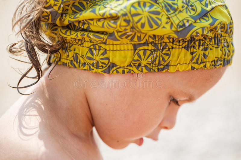 Download Beautiful Kid On The Beach Stock Photo - Image: 83720733