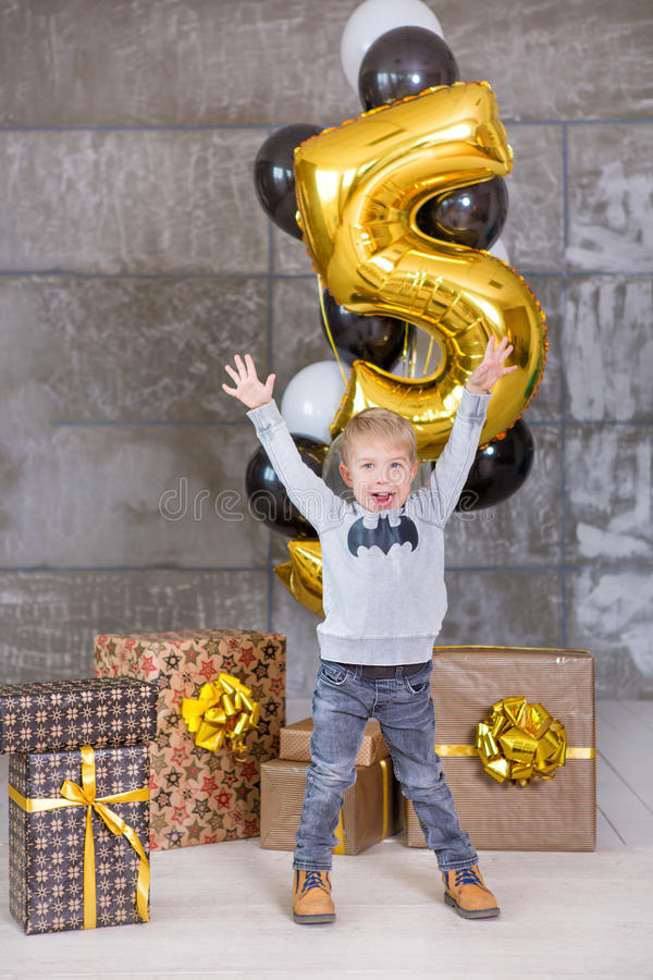 Free Beautiful Kids, Little Boys Celebrating Birthday And Blowing Candles On Homemade Baked Cake, Indoor. Birthday Party For Royalty Free Stock Photography - 92236907