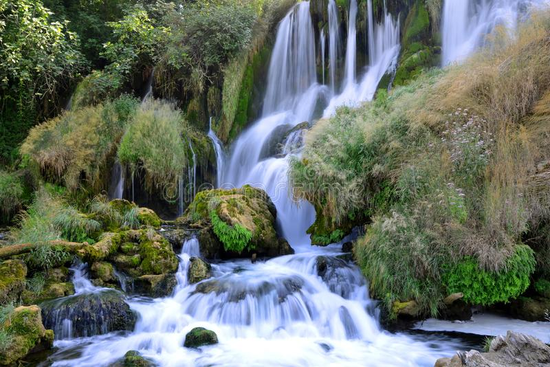 Beautiful Kravice waterfall in Bosnia and Herzegovina. Beautiful Kravice waterfall on the Trebizat River in Bosnia and Herzegovina royalty free stock images