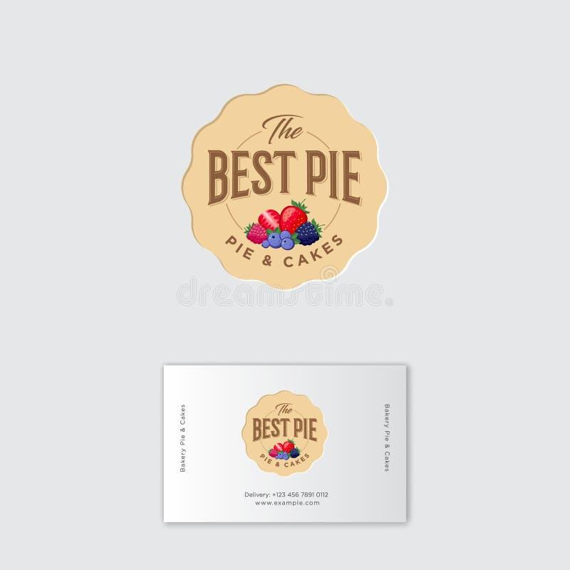 Best Pie Logo. Pie Labels. Pie With Strawberry, Blueberry ...