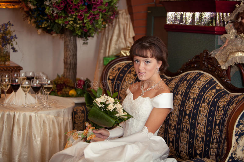 Download Beautiful lady stock photo. Image of bouquet, lady, female - 25354132