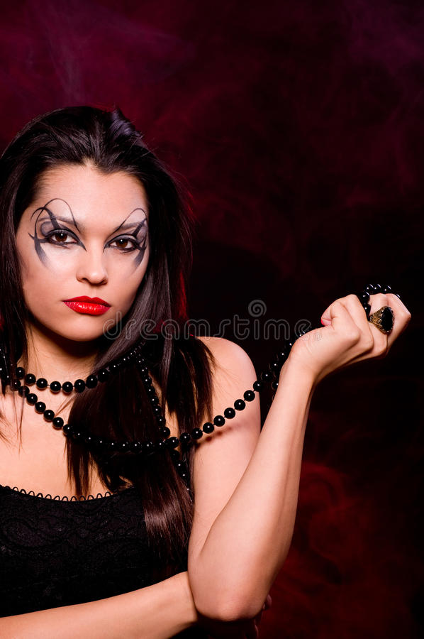 Download Beautiful Lady With Art Makeup Stock Photo - Image: 23065130