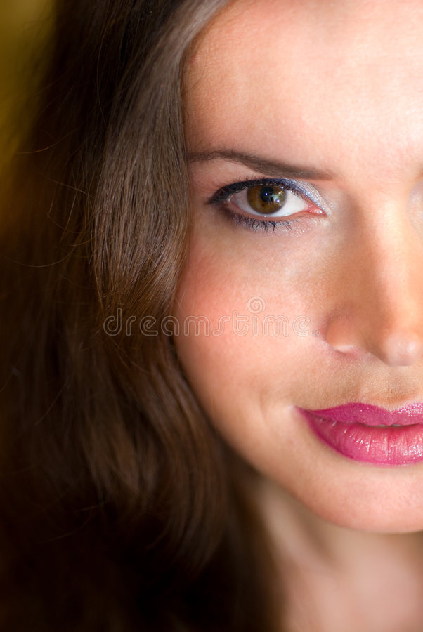 Beautiful Lady head portrait stock photo