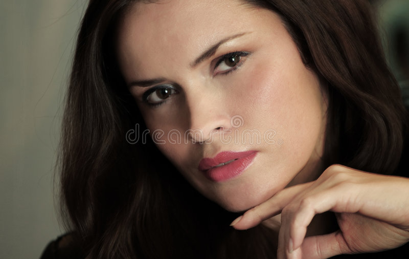 Beautiful lady portrait stock image