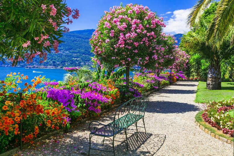Lago Maggiore - beautiful isola Madre,North Italy. Beautiful Lago Maggiore,view from Isola Madre and gardens,Italy royalty free stock image